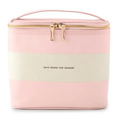 kate spade new york blush rugby stripe lunch tote