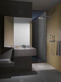 PERFORMING WATER represents Dornbracht's water competence in the bathroom. In particular, for the variety of shapes with which Dornbracht products present water to people: water in the form of rain; water as a clear, powerful cascade; water as a powerfully pulsing or gently enveloping jet – the encounter with this element could hardly be more varied.