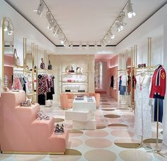 opens the doors to a newly designed store in 💕 Don't miss out on the collection now in store in Clothing Boutique Interior, Clothing Store Design, Boutique Decor, Retail Interior Design, Boutique Interior Design, Retail Store Design, Classy Living Room, Home Room Design, Decoration