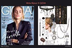 Mirta Bijoux in GIOIA 2016 Mirta Bijoux in GIOIA 2016 n°46  Sfiorano le spalle gli orecchini più trendy di stagione.  Orecchini pendenti in catena della collezione Rock