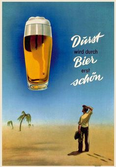 German beer poster from the fifties, Heinrich Becker collection