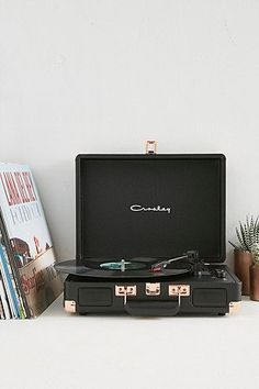 Crosley Cruiser Black and Rose Gold Vinyl Record Player - Urban Outfitters