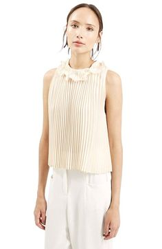 TopshopRuffle Collar Shell Top available at #Nordstrom