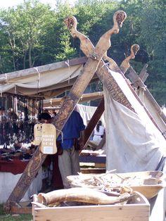 Market selling traditionally made viking goods, Viking Moot 2011, Moesgård - Denmark