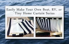 Trackless Curtains For Small Spaces Boat Camp Rv Or