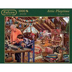 Bonito puzzle de una habitación de juguetes :) Marca Jumbo, 1000 piezas