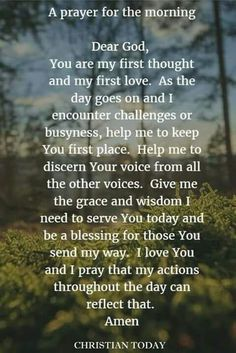 Prayer for the morning prayer to jesus, prayer for faith, prayers for peace Prayer Times, Prayer Scriptures, Bible Prayers, Faith Prayer, God Prayer, Power Of Prayer, Bible Verses, Prayer For Discernment, Bible Quotes