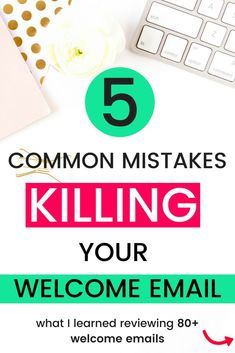 Are you struggling with email marketing? Know you have to write a good welcome email series... but just not sure you're getting it right? Here are 5 common mistakes I found most entrepreneurs making after reviewing over 80 emails! Read it now and my tips on how to avoid these pitfalls! #emailmarketing #email #entrepreneur #smallbiz #bloggingtips