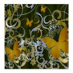 Brown Butterfly Shower Curtain  $49.50