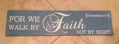 By Faith Wooden Sign 6x22 by ParLaGrace on Etsy