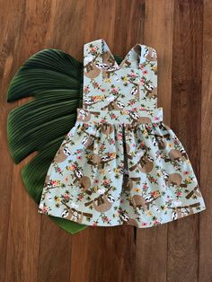 Sloth Print Pinafore Easy Wear, Sloth, Elastic Waist, Tights, Summer Dresses, Kids, How To Wear, Collection, Fashion