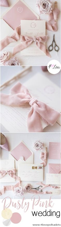 #dustypink wedding invitations #trendy #weddinginspiration