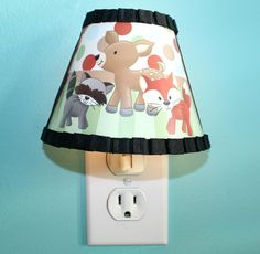 Forest Animal Woodland Friends Kids  Boys NIGHT LIGHT for Kids Bedroom Baby Nursery by ToadAndLily on Etsy https://www.etsy.com/listing/176310971/forest-animal-woodland-friends-kids-boys