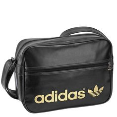 adidas messenger bag black gold