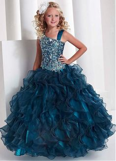 Buy discount Charming Organza Full Length Ball Gown Children's Formal Dress at Dressilyme.com