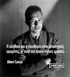 Greek Quotes, Wise Quotes, Albert Camus, Philosophy, Kai, Literature, Wisdom, Sayings, Words