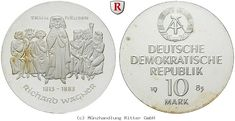 RITTER DDR, 10 Mark 1983, Wagner, J. 1589, PP #coins #numismatics