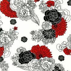 ROBERT KAUFMAN by Melissa Crowley. La Femme. Cotton/Linen Blend. 1/2 yard.