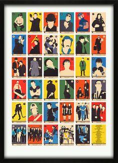 Alphabet Art Prints - Movie Classics A to Z Rocket St George The Italian Job, Rockett St George, Alphabet Print, Alphabet Charts, Alphabet Soup, Affordable Art, Drawing, Best Part Of Me, All Print