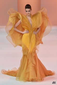 a8edb059439 Stephane Rolland Couture Spring 2014 You will be NOTICED when wearing this.  TG looks like a flower!