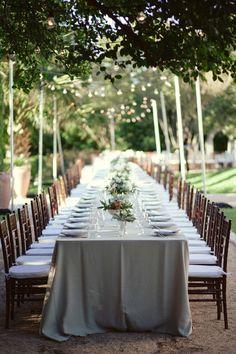 Long. al fresco.  Posey Floral & Event Design. Photography: The Nichols - jnicholsphoto.com  Read More: http://www.stylemepretty.com/2014/01/10/al-fresco-austin-wedding/