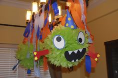 hanging monster decorations for monster party