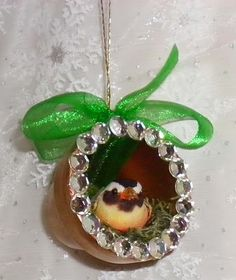 Bird Nest Clay Pot #Christmas Ornament