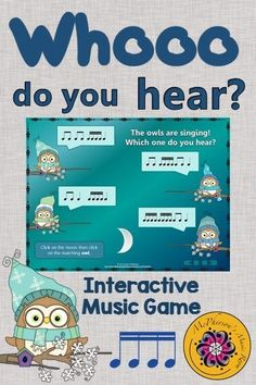 Elementary music - Your students will love this interactive game while aurally listening to a do mi sol la melody and choosing the correct pattern! Fun lesson and activity. Use with or without a Smartboard! Music Lesson Plans, Music Lessons, Music Games, Music Mix, Fun Music, Music Stuff, Music Classroom, Music Teachers, Classroom Ideas
