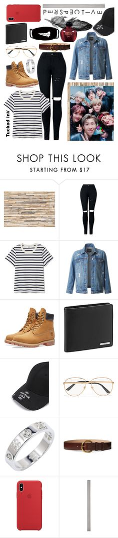 """Imagine being best friends with Bts"" by felder-desgins ❤ liked on Polyvore featuring Brewster Home Fashions, LE3NO, Timberland, Porsche Design, Gucci, Polo Ralph Lauren, Improvements and Christian Dior"
