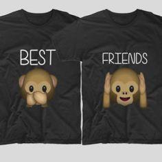 Tricouri cu mesaj BFF Maimute - Tricouri cu mesaje Bff, Best Friends, Sweatshirts, Sweaters, T Shirt, Gifts, Tops, Women, Fashion