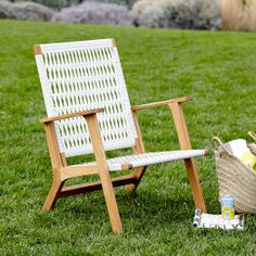Danish design for the great outdoors. Inspired by classic mid-century style, our Catskill Outdoor Chair is crafted from solid teak wood and all-weather wicker that's handwoven for a light, airy look.