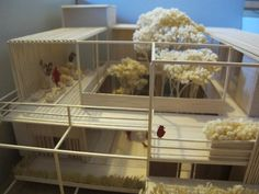 structural and modular house by wooden model