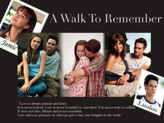 A Walk to Remember Movie adapted book by Nicholas Sparks. <3