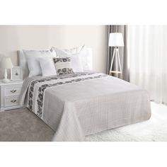 Sede prehozy na manzelskou postel s kvetinami