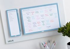 Family Command Centre: Step Three // Hang up your Meal Planner for the week. Planning ahead for your meals is so beneficial. You save money by only purchasing what you've written on your Shopping List, time by knowing exactly what you need to buy and stress because each night is planned in advance. The kids will also know where to look to find out what's for dinner instead of asking you. Next to your Meal Planner, hang your Shopping List and add to this as you notice household items are low…
