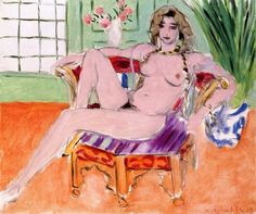 Henri Matisse, Seated Odalisque 1929 on ArtStack #henri-matisse #art