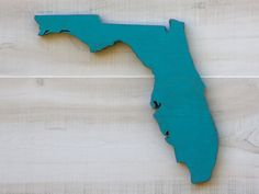 "Florida state shape 11 x 12"" in choice of 24 colors.  State Your Love for the state you love!"