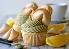 Green Tea Cupcakes with Matcha Cream Cheese Frosting. Developed for Dixie Crystals by @Chung-Ah Rhee.