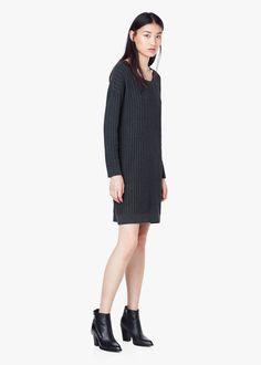 Knit cotton-blend dress