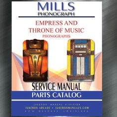 Printed Jukebox Manuals - Jukebox Arcade  Mills Empress & Throne of Music (1939) Manual​, PRINT