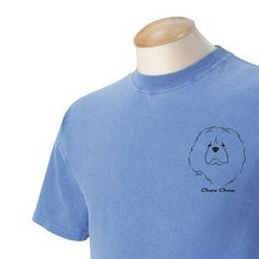Chow Chow Garment Dyed Cotton Tshirt by WryToastDesigns on Etsy, $19.99
