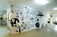Animated Wall Office Design