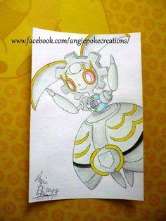 Dessin Pokemon Aquarelle Magearna