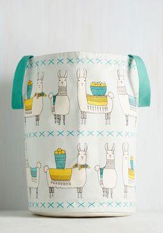 Llama, I'm Coming Home Hamper | Mod Retro Vintage Decor Accessories | ModCloth.com