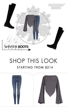"""""""Untitled #40"""" by janesmith5 ❤ liked on Polyvore featuring 7 For All Mankind, Balenciaga, Stuart Weitzman and Balmain"""