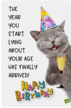Funny Happy Birthday Images - Happy Birthday Funny - Funny Birthday meme - - The year you start lying about your age has finally arrived. The post Funny Happy Birthday Images appeared first on Gag Dad. Happy Birthday Wishes For A Friend, Funny Happy Birthday Images, Happy Birthday Best Friend, Birthday Wishes Funny, Happy Birthday Messages, Humor Birthday, Birthday Ideas, Your Birthday, Funny Birthday Posts