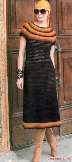 Элегантность и стиль. Ажурное платье. - Все в ажуре... (вязание крючком) - Страна Мам