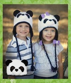 This simple, yet detailed crochet pattern will help you create the cutest panda bear hat you will ever see! Crochet Panda, Crochet Bunny, Crochet For Kids, Bonnet Crochet, Crochet Beanie, Knit Crochet, Crochet Hats, Knit Hats, Knitting Patterns Free