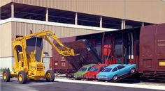 Unlikely Ways They Used to Transport Cars by Train - Core77