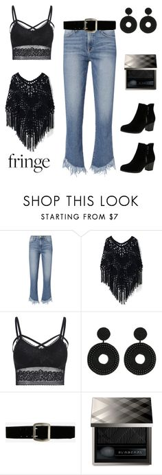 """Fringe"" by im-karla-with-a-k ❤ liked on Polyvore featuring Frame, Chicwish, Kenneth Jay Lane, Express, Burberry and Skechers"